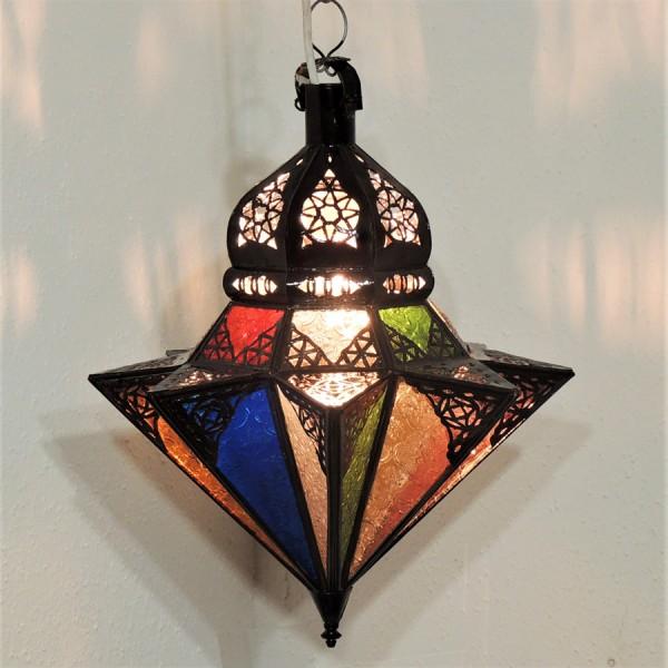 Arabische Deckenleuchte Tayma farbig