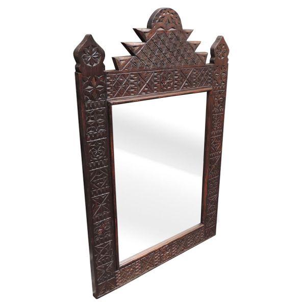 Orientalischer Spiegel handgeschnitzt
