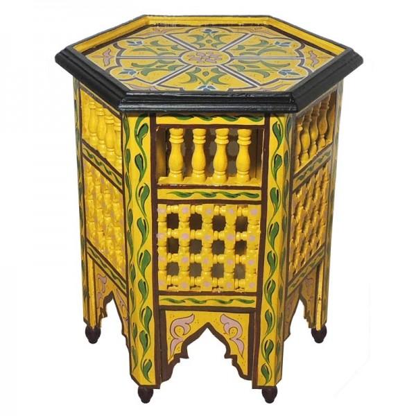 Marokkanischer Beistelltisch Soha Gelb