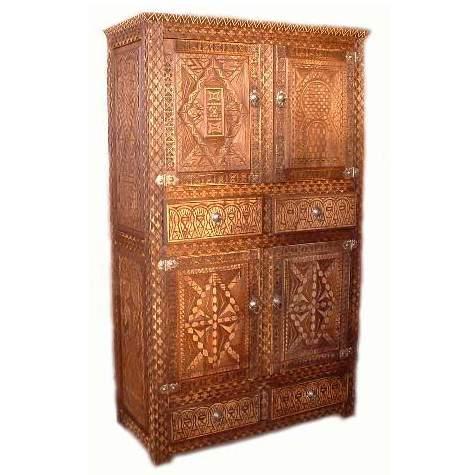 Orientalischer Schrank Natur Holz