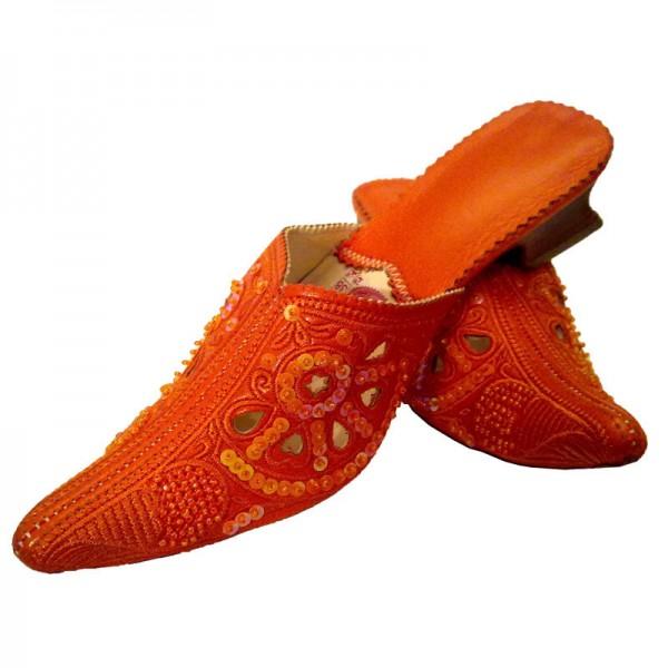 Orientalische Babouche Skali Orange