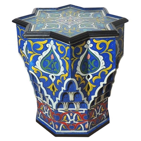 Orientalischer Beistelltisch Étoile Blau