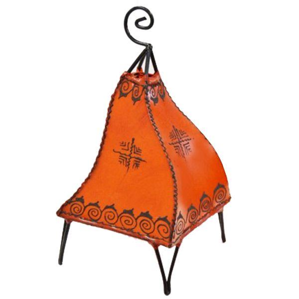 Orientalische Tischlampe Sara Orange