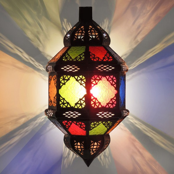 Orientalische Wandlampe Titia bunt