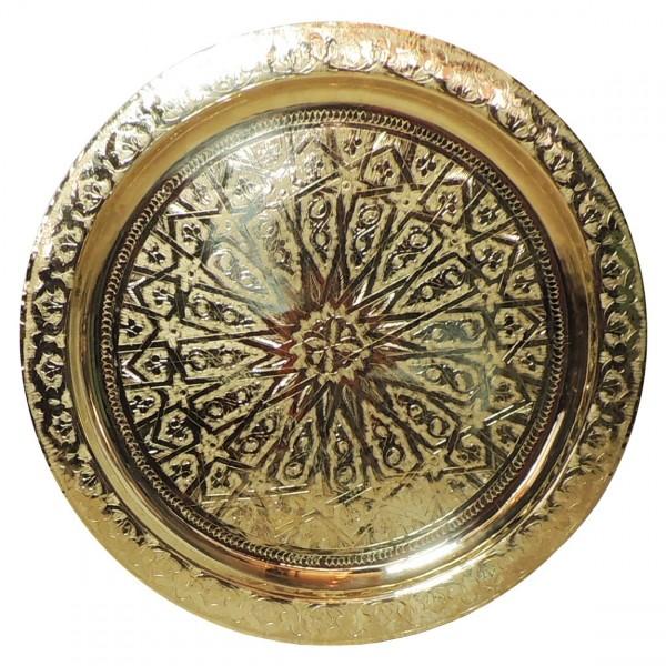 Arabisches Teetablett aus Messing 60 cm