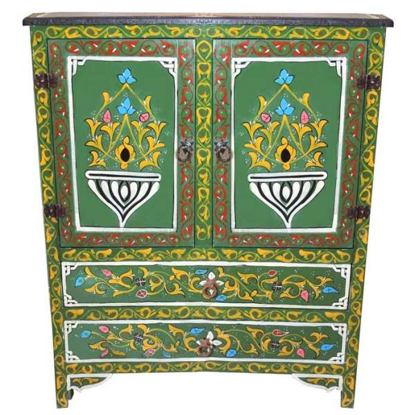 Kommode aus Marokko Fatouna Grün