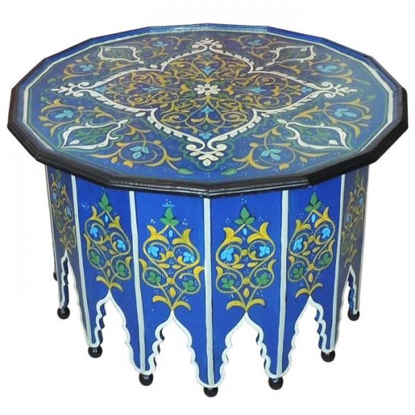 Orientalischer Tisch Warda Blau