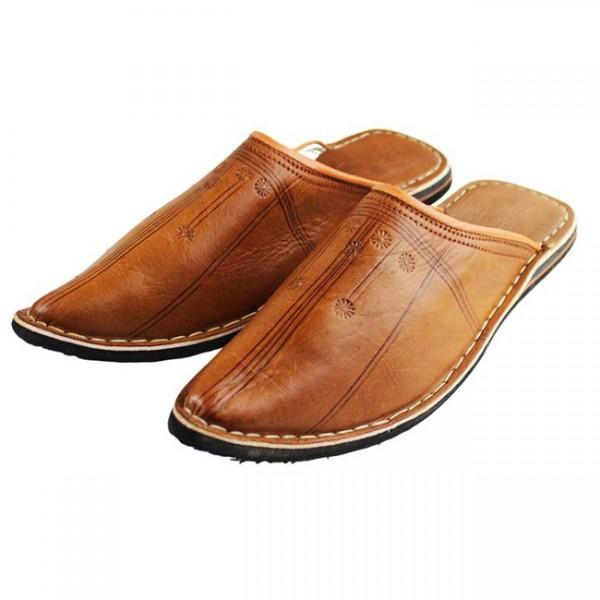 Orientalische Schuhe Aladdin Caramel