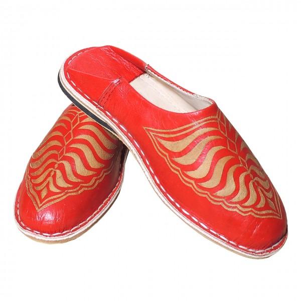 Orientalische Damen-Schuhe Zebra Rot
