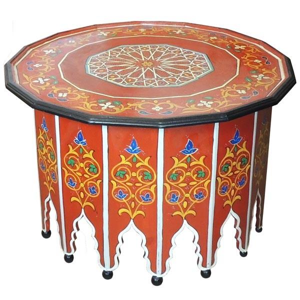 Orientalischer Tisch Warda Rot