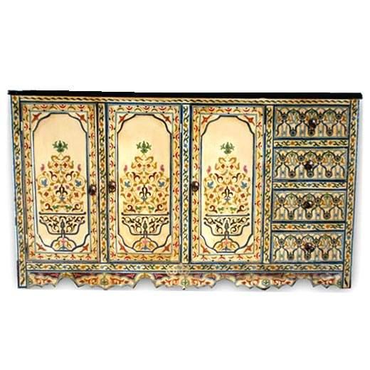Orientalisches Sideboard Jaha Weiß