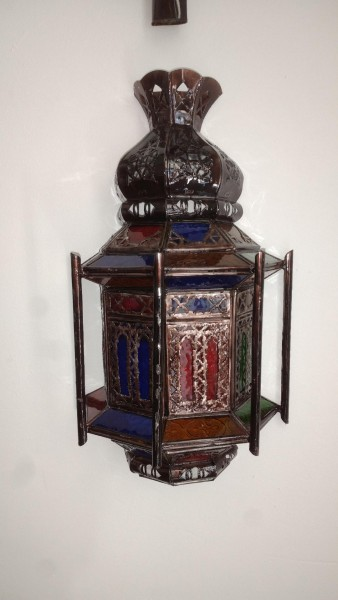 Orientalische Wandlampe Swira Bunt