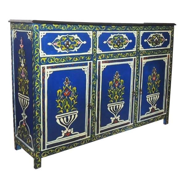 Orientalische Kommode blau