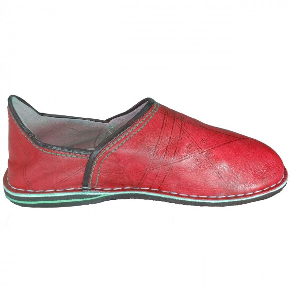 Orientalische Lederschuhe Sindbad Rot geschlossen