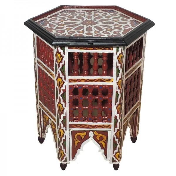 Orientalischer Beistelltisch Soha Rot
