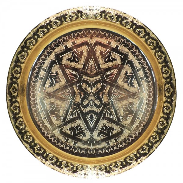 Marokkanisches Messingtablett Bnani 30 cm