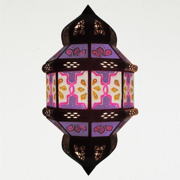 Wandlampe aus Marokko Handbemalt