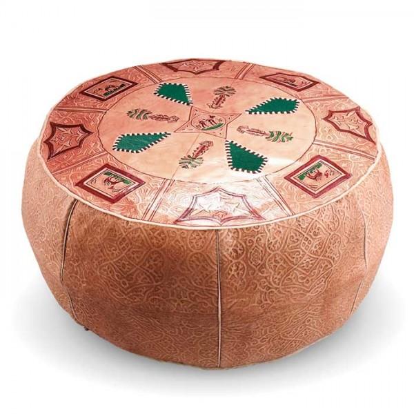 Marokkanisches Leder Sitzkissen Losa