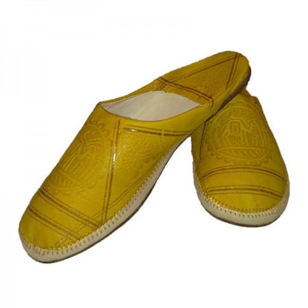 Orientalische Lederschuhe Amazigh Gelb