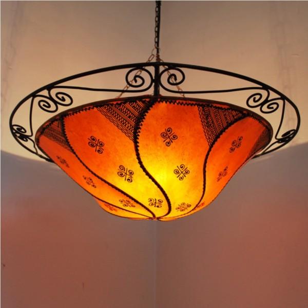 Orientalische Deckenlampe Rita Leder