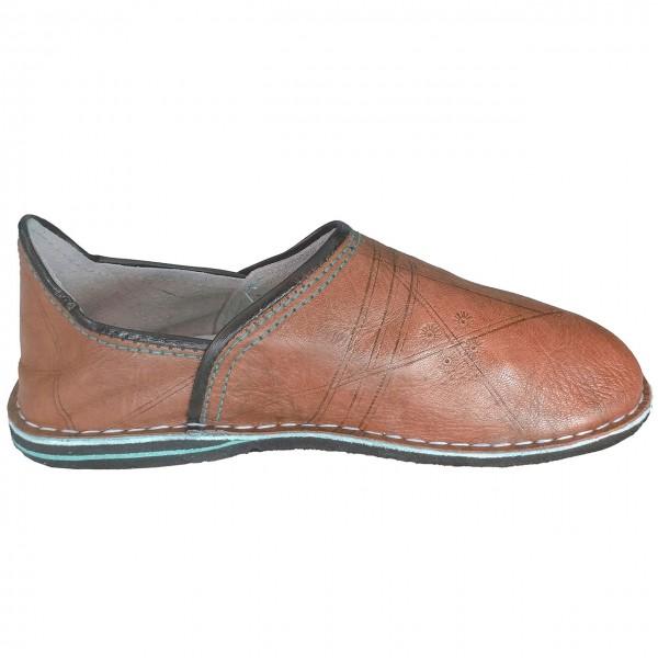Orientalische Slipper Schuhe Caramel geschossen