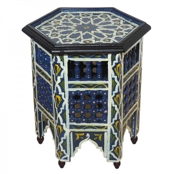 Orientalischer Beistelltisch Fati Blau