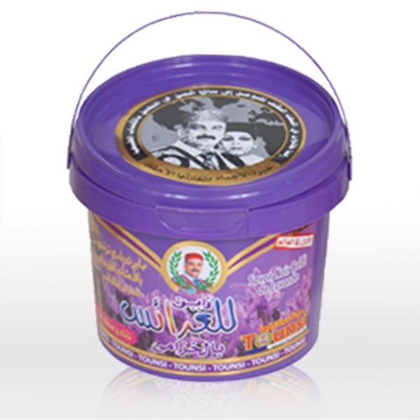 Schwarze Seife mit Lavendel