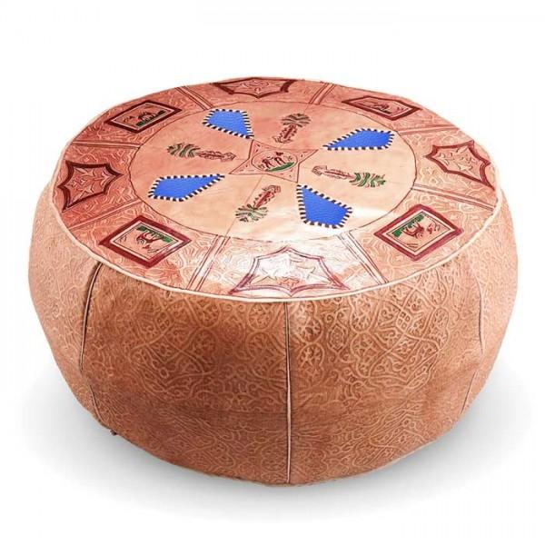 Marokkanisches Sitzkissen aus Leder