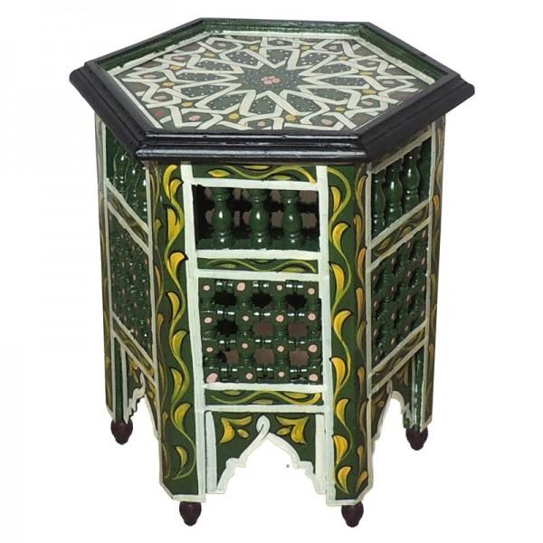 Orientalischer Tisch aus Marokko Grün