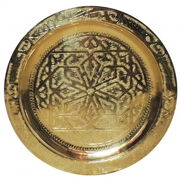 Orientalisches Teetablett aus Messing 60 cm