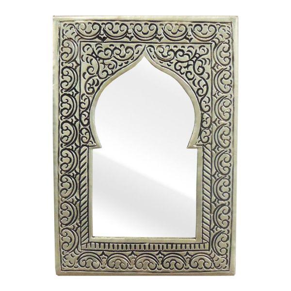 Arabischer Spiegel Messing versilbert