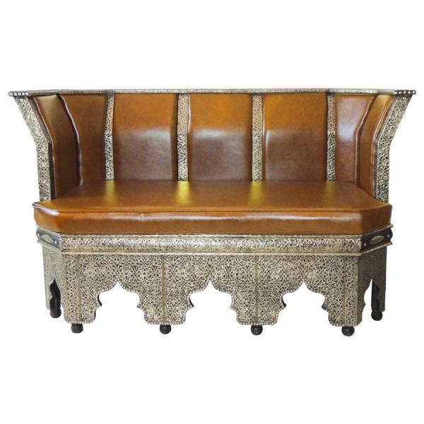 Orientalisches Sofa Amir Hellbraun