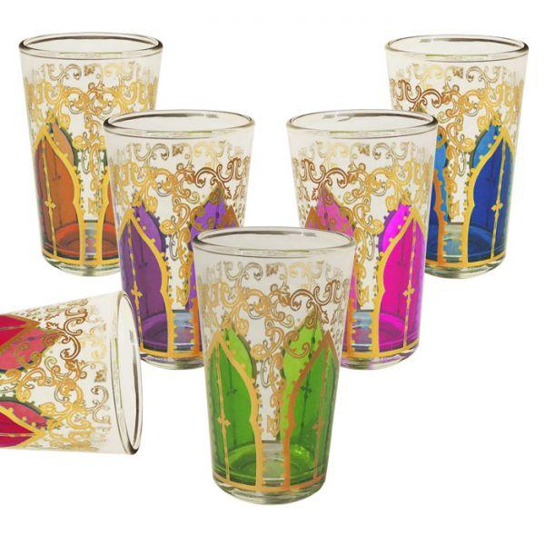 Orientalische Teegläser Mansour 6 Stück