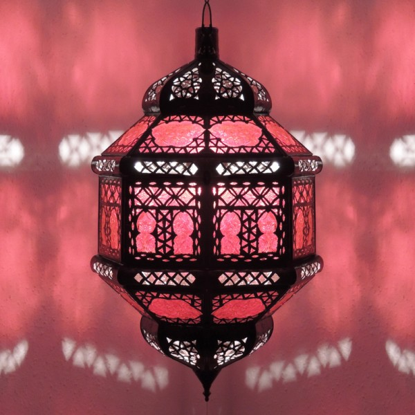 Marokkanische Deckenlampe Titia Biban Rot