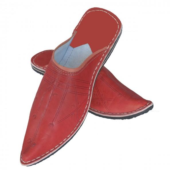 Orientalische Lederschuhe Aladdin Rot