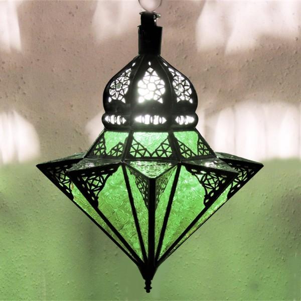 Marokkanische Hängeleuchte Tayma Grün