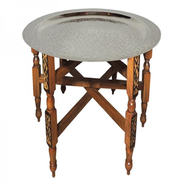 Orientalischer Tee-Tisch mit Messigtablett 40 cm