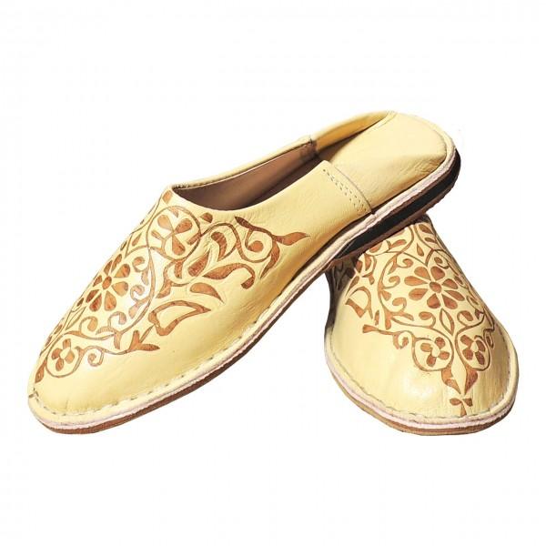 Arabische Leder Schuhe Creme-Weiß