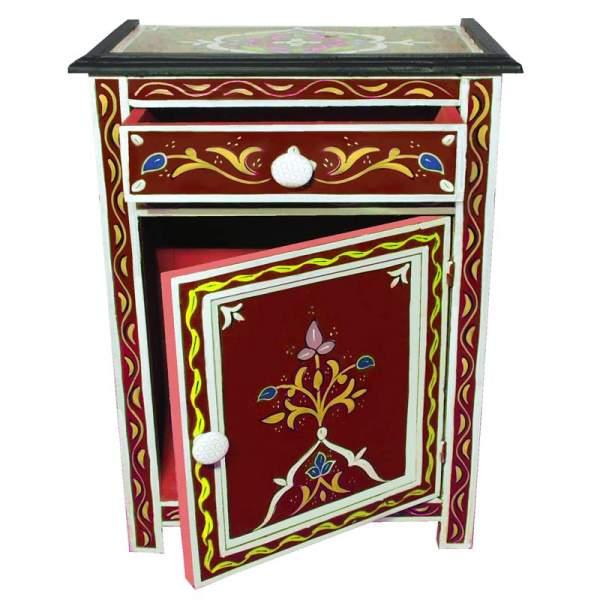Orientalischer Nachttisch Bahya Rot