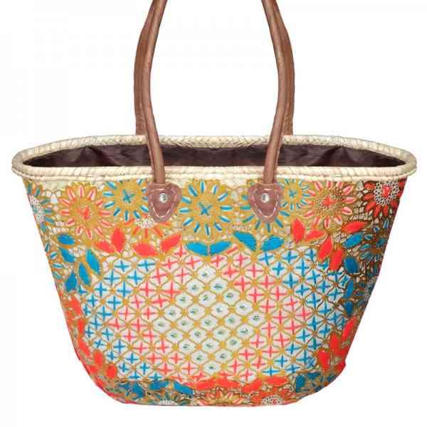 Marokkanische Strandtasche / Korbtasche