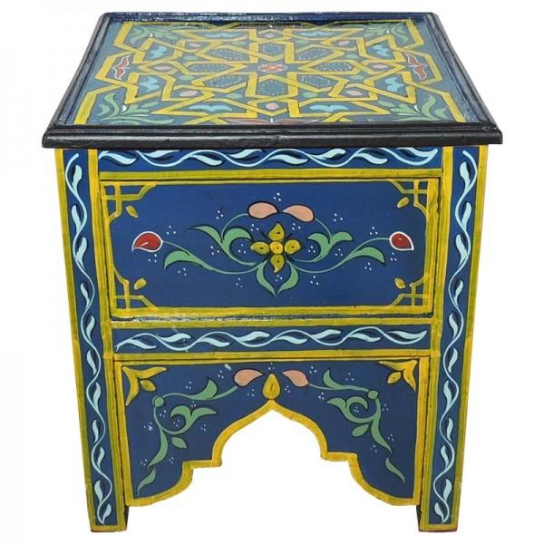 Arabischer Beistelltisch Eckig Blau/Gelb