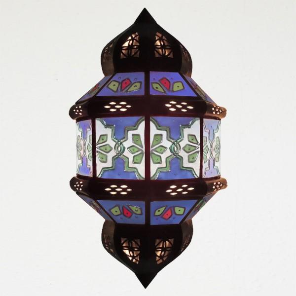 Wandlampe Marokko Zawak Handbemalt