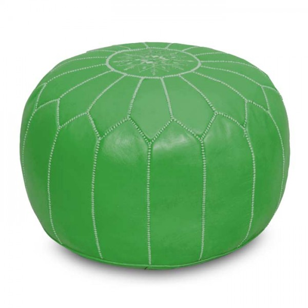 Orientalisches Leder Sitzkissen Grün
