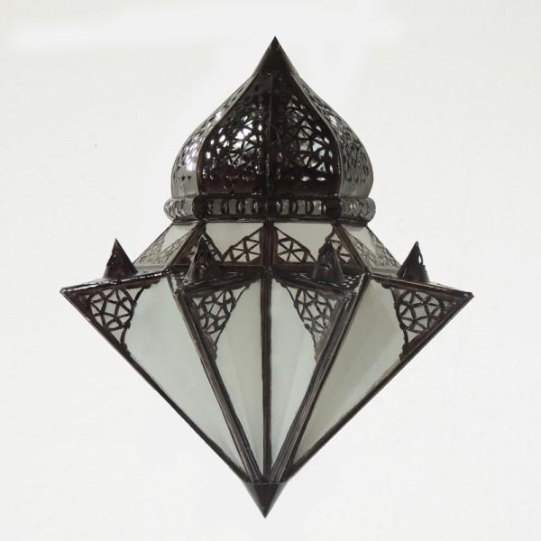 Wandlampe orientalisch Tayma Milchglas