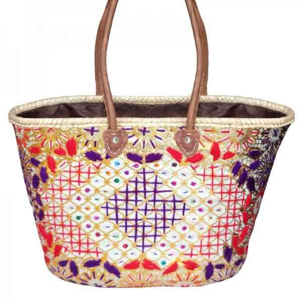 Marokkanische Korbtasche / Shopper Skali
