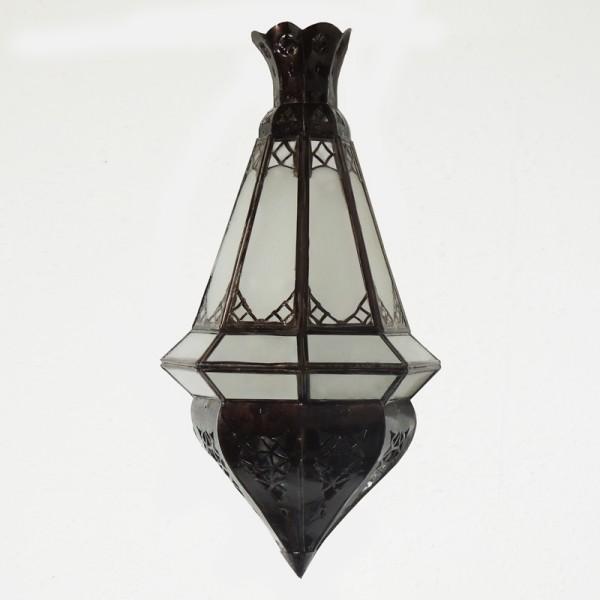 Orientalische Wandlampe Amal Milchglas
