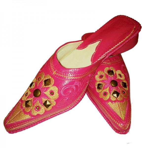 Orientalische Lederschuhe Hajar Pink