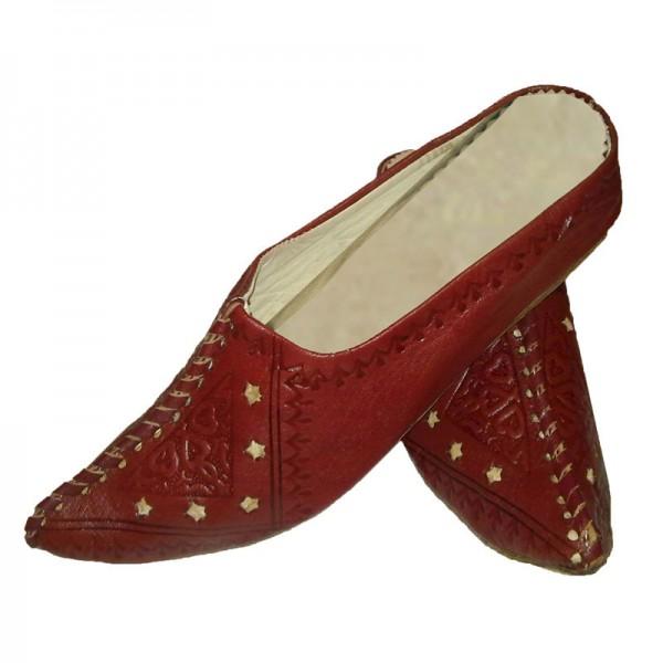 Orientalische Schuhe Najma Weinrot