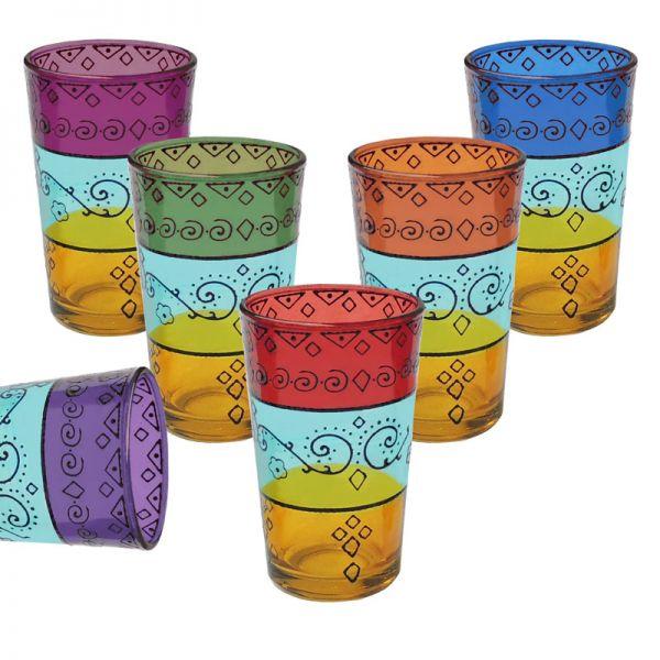 Marokkanische Teegläser Alwan 6er Set
