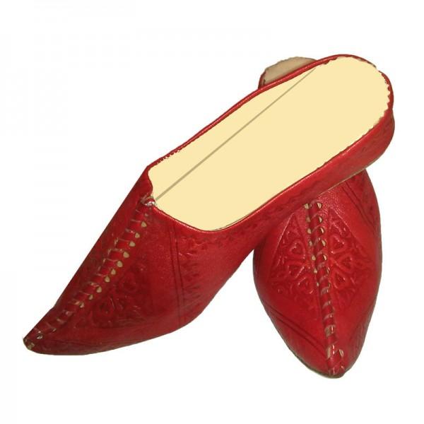 Orientalische Lederschuhe Najma Rot